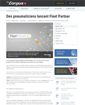 Article sur Fleet Parner de l'Argus Pro