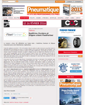 Article sur Fleet Parner de Pneumatique le Site